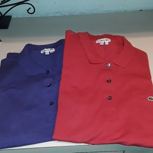 Lacoste short sleeve Polo 42 abt a large